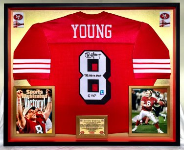 Premium Framed Steve Young Autographed Rare 1994 49ers Jersey - GTSM Official Young Hologram