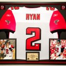 Premium Framed Matt Ryan Autographed / Signed Atlanta Falcons Reebok Jersey - GA COA
