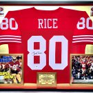 Premium Framed Jerry Rice Autographed / Signed San Francisco 49ers Jersey - PSA COA