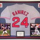 Premium Framed Manny Ramirez Autographed / Signed Boston Red Sox Jersey - PSA COA