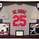 Premium Framed Mark McGwire Autographed St. Louis Cardinals Official Majestic Jersey - PSA COA