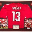 Premium Framed Kurt Warner Autographed / Signed Arizona Cardinals Nike Jersey - JSA COA