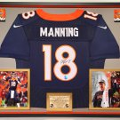 Premium Framed Peyton Manning Autographed / Signed Denver Broncos Nike Jersey - Manning COA