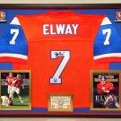 Premium Framed John Elway Signed Denver Broncos Mitchell & Ness Jersey - Elway Hologram