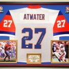 Premium Framed Steve Atwater Autographed Denver Broncos Mitchell & Ness Jersey - JSA COA