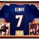 Premium Framed John Elway Autographed Denver Broncos SUPER BOWL XXXII Jersey - Elway Hologram