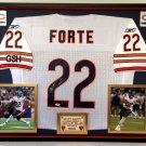 Premium Framed Matt Forte Autographed Chicago Bears Official Reebok Jersey - PSA Certified