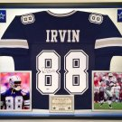 Premium Framed Michael Irvin Autographed / Signed Dallas Cowboys Jersey - Beckett COA