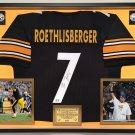 Premium Framed Ben Roethlisberger Autographed Pittsburgh Steelers Jersey - AAA COA