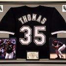 Premium Framed Frank Thomas Autographed / Signed Chicago White Sox Jersey - JSA COA