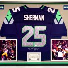 Premium Framed Richard Sherman Autographed Seattle Seahawks Nike Jersey - Sherman Hologram