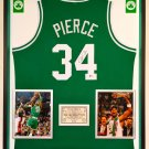 Premium Framed Paul Pierce Signed Boston Celtics Jersey -- Beckett COA