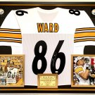 Premium Framed Hines Ward Autographed Pittsburgh Steelers Jersey - JSA COA