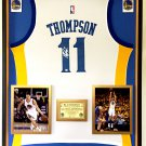 Premium Framed Klay Thompson Autographed Golden State Warriors Adidas Jersey - PAAS COA
