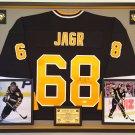 Premium Framed Jaromir Jagr Autographed Pittsburgh Penguins Jersey - JSA COA