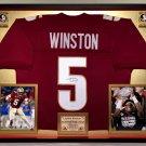 Premium Framed Jameis Winston Autographed Florida State Jersey FSU Seminoles JSA