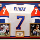 Premium Framed John Elway Autographed Broncos Official Mitchell & Ness Jersey - Mounted Memories