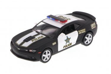 2014 Chevy Camaro Police, Black Kinsmart diecast car model