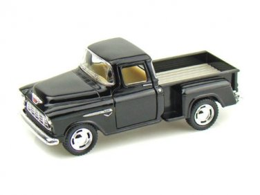1955 Chevy Stepside Pick-Up 1/32 Black Kinsmart diecast car model