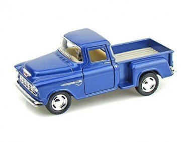 1955 Chevy Stepside Pick-Up 1/32 Blue Kinsmart diecast car model