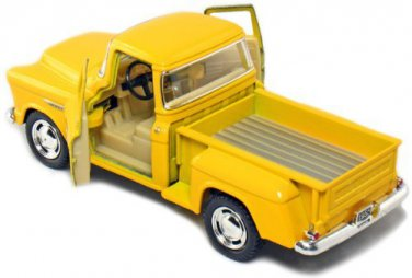 1955 Chevy Stepside Pick-Up 1/32 Yellow Kinsmart diecast car model