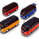 Set of 4 pcs. 1962 VolksWagen Classical Bus Kinsmart diecast car model