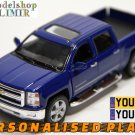 2014 Chevrolet Silverado blue color Kinsmart diecast car model