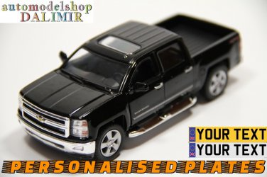 2014 Chevrolet Silverado black color Kinsmart diecast car model