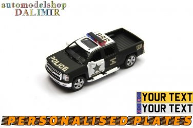 2014 Chevrolet Silverado Police 388 black Kinsmart diecast car model