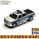 2014 Chevrolet Silverado Police grey Kinsmart diecast car model