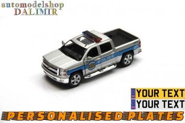 2014 Chevrolet Silverado Police grey Kinsmart diecast car model