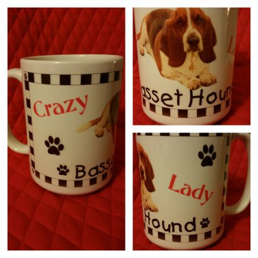 Crazy Basset Hound Lady Coffee Mug