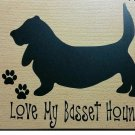 6x5 Vinyl Car Window Sticker /Basset Hound