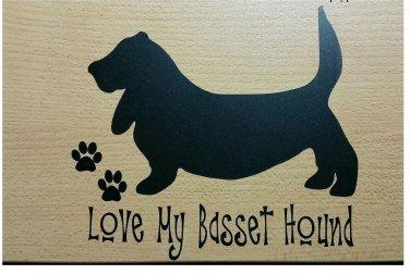 6x5 Vinyl Car Window Sticker /Basset Hound