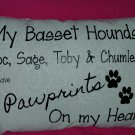 My Dogs leave Pawprints on my Heart Pillow