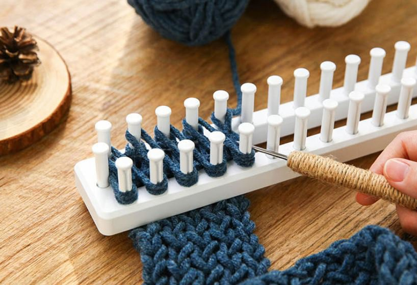 knitting loom muffler diy set