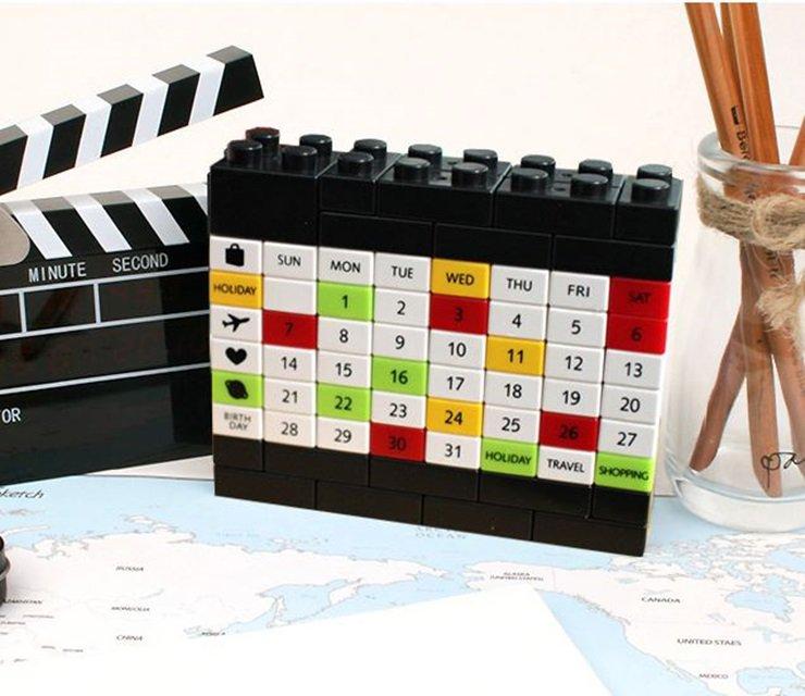 lego desk calendar diy