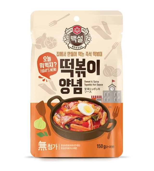 sweet and spicy topokki sauce korean road food  150g * 5pc
