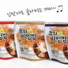 Korean Portable Instant Dried Food Meal Bibimbap 3pc Kimchi + Beef + Mushroom