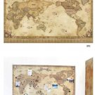 deco worldmap with deco sticker deco tape travel memorial diy antique