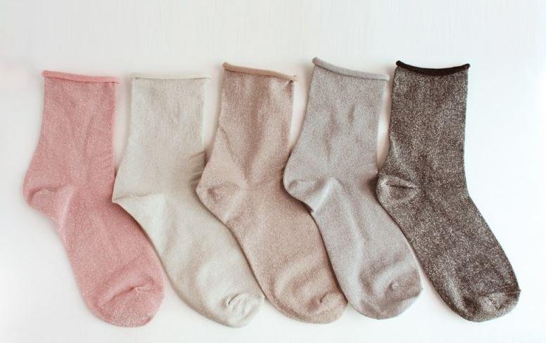 women daily socks pearl socks glitter socks 5pcs