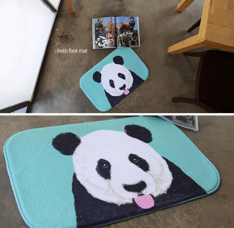 microfiber bear mat foot mat door mat funny mat home decor