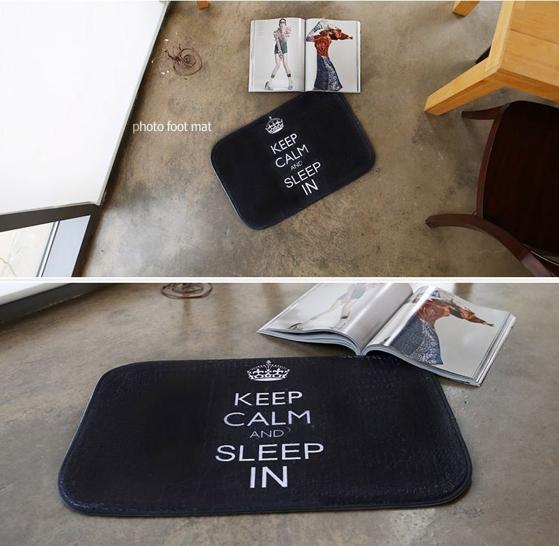 microfiber keep calm mat foot mat door mat funny mat home decor