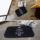 microfiber keep calm mat foot mat door mat funny mat home decor