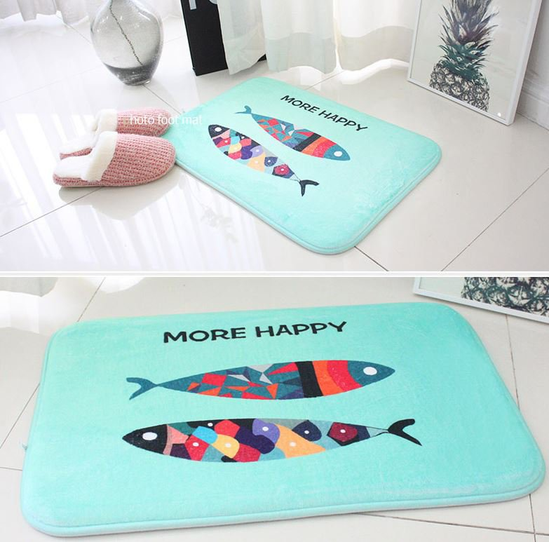 microfiber fish mat foot mat door mat funny mat home decor