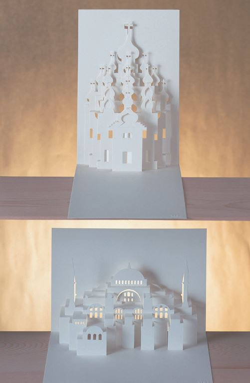 origami architecture book world heritage 45 paper cut diy  Folk Art Hand Made