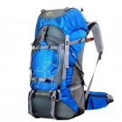 hiking backpacks 60L  sport bags for men women camping traveling backpacks (blue)