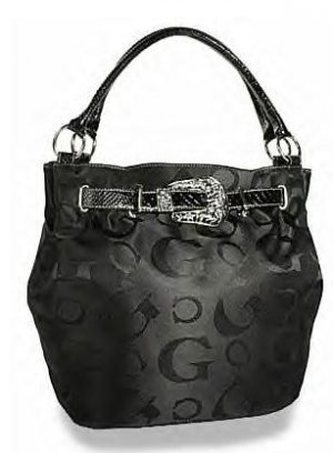 Signature Jacquard Belted Bucket Handbag