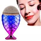 Cosmetic Brush Fish Scale Makeup Brush Fishtail Bottom Brush
