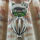 PEARL KITTY LOCKET
